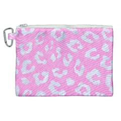 Skin5 White Marble & Pink Colored Pencil (r) Canvas Cosmetic Bag (xl)