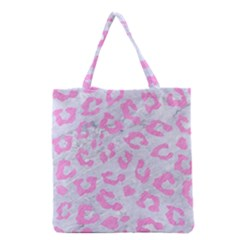 Skin5 White Marble & Pink Colored Pencil Grocery Tote Bag by trendistuff