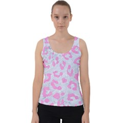 Skin5 White Marble & Pink Colored Pencil Velvet Tank Top