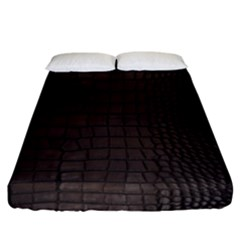 Gator Brown Leather Print Fitted Sheet (king Size)