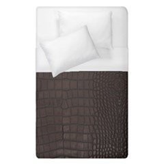 Gator Brown Leather Print Duvet Cover (single Size) by LoolyElzayat