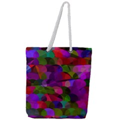 Geometric Full Print Rope Handle Tote (large) by luizavictorya72