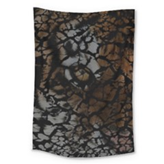 Earth Texture Tiger Shades Large Tapestry by LoolyElzayat