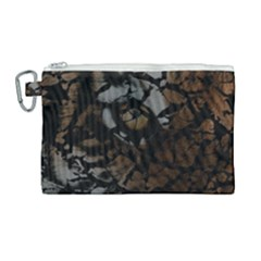 Earth Texture Tiger Shades Canvas Cosmetic Bag (large)