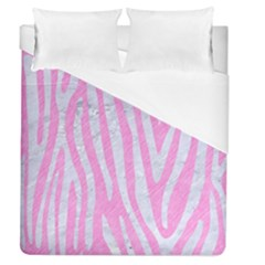 Skin4 White Marble & Pink Colored Pencil (r) Duvet Cover (queen Size) by trendistuff