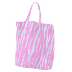 Skin3 White Marble & Pink Colored Pencil Giant Grocery Zipper Tote by trendistuff