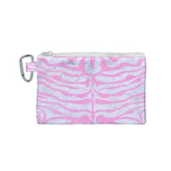 Skin2 White Marble & Pink Colored Pencil (r) Canvas Cosmetic Bag (small) by trendistuff