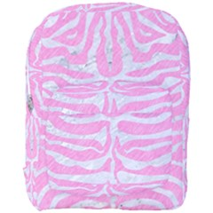 Skin2 White Marble & Pink Colored Pencil Full Print Backpack by trendistuff
