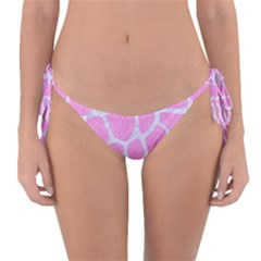 Skin1 White Marble & Pink Colored Pencil (r) Reversible Bikini Bottom