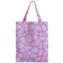 Skin1 White Marble & Pink Colored Pencil Zipper Classic Tote Bag by trendistuff