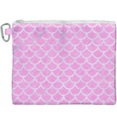 Scales1 White Marble & Pink Colored Pencil Canvas Cosmetic Bag (xxxl) by trendistuff