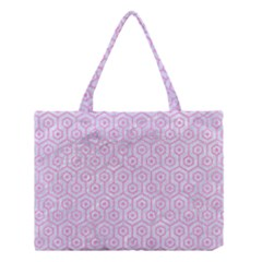 Hexagon1 White Marble & Pink Colored Pencil (r) Medium Tote Bag by trendistuff