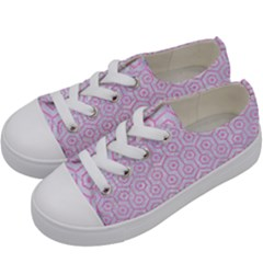 Hexagon1 White Marble & Pink Colored Pencil (r) Kids  Low Top Canvas Sneakers by trendistuff