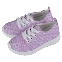 Hexagon1 White Marble & Pink Colored Pencil (r) Kids  Lightweight Sports Shoes by trendistuff
