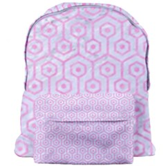 Hexagon1 White Marble & Pink Colored Pencil (r) Giant Full Print Backpack by trendistuff
