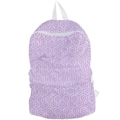 Hexagon1 White Marble & Pink Colored Pencil (r) Foldable Lightweight Backpack by trendistuff