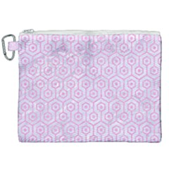 Hexagon1 White Marble & Pink Colored Pencil (r) Canvas Cosmetic Bag (xxl) by trendistuff