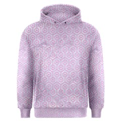 Hexagon1 White Marble & Pink Colored Pencil (r) Men s Overhead Hoodie by trendistuff