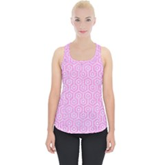 Hexagon1 White Marble & Pink Colored Pencil Piece Up Tank Top by trendistuff