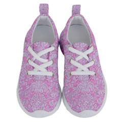 Damask2 White Marble & Pink Colored Pencil Running Shoes by trendistuff