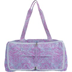 Damask1 White Marble & Pink Colored Pencil (r) Multi Function Bag