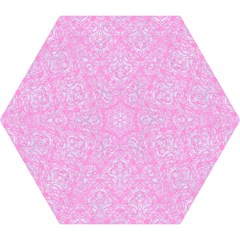 Damask1 White Marble & Pink Colored Pencil Mini Folding Umbrellas by trendistuff