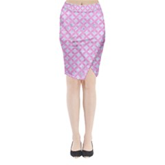 Circles3 White Marble & Pink Colored Pencil (r) Midi Wrap Pencil Skirt by trendistuff
