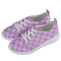 Circles2 White Marble & Pink Colored Pencil Women s Lightweight Sports Shoes by trendistuff