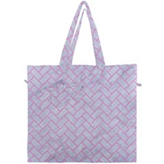 Brick2 White Marble & Pink Colored Pencil (r) Canvas Travel Bag