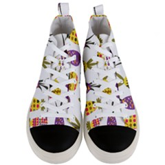 Pineapples Men s Mid Top Canvas Sneakers