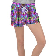 Geometric Women s Velour Lounge Shorts
