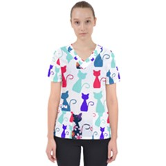 Cats Scrub Top