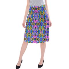 Artwork By Patrick Colorful 48 Midi Beach Skirt