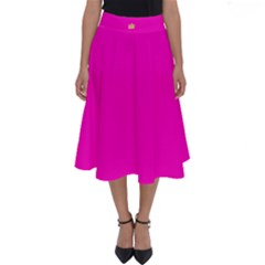 Nu Hot Pink Perfect Length Midi Skirt by nurenn