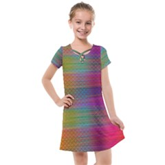 Colorful Sheet Kids  Cross Web Dress by LoolyElzayat