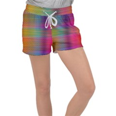 Colorful Sheet Women s Velour Lounge Shorts by LoolyElzayat