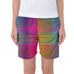 Colorful Sheet Women s Basketball Shorts by LoolyElzayat