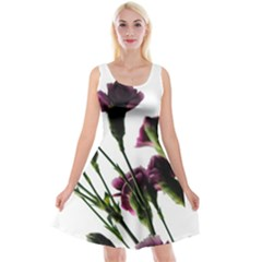 Purple Carnations From A Distance Reversible Velvet Sleeveless Dress by bloomingvinedesign