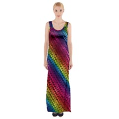 Largerainbowdragonscales Maxi Thigh Split Dress by bloomingvinedesign