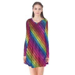 Largerainbowdragonscales Flare Dress