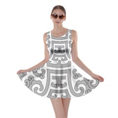 Chinese Traditional Pattern Skater Dress by Nexatart