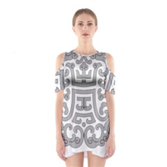 Chinese Traditional Pattern Shoulder Cutout One Piece by Nexatart