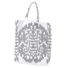 Chinese Traditional Pattern Giant Grocery Zipper Tote