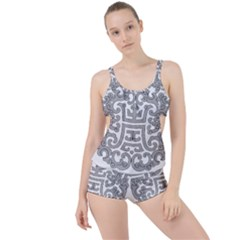 Chinese Traditional Pattern Boyleg Tankini Set