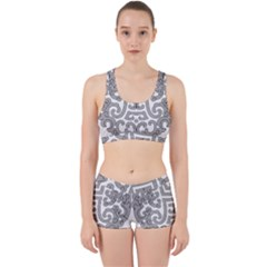 Chinese Traditional Pattern Work It Out Gym Set