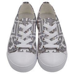 Chinese Traditional Pattern Kids  Low Top Canvas Sneakers