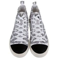 Chinese Traditional Pattern Men s Mid Top Canvas Sneakers