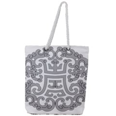 Chinese Traditional Pattern Full Print Rope Handle Tote (large)