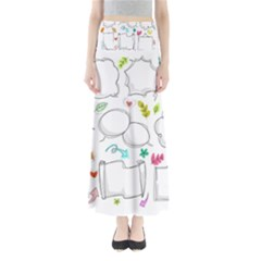 Set Chalk Out Chitchat Scribble Full Length Maxi Skirt