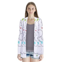 Set Chalk Out Chitchat Scribble Drape Collar Cardigan by Nexatart